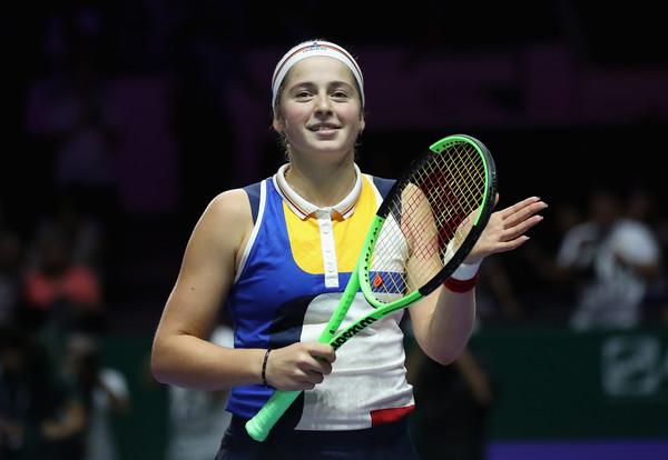 Ostapenko celebrates her win   Photo: Julian Finney/Getty Images AsiaPac