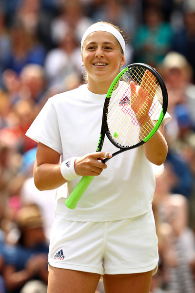 Jelena Ostapenko celebrates reaching the semifinals at Wimbledon | Photo: Matthew Stockman/Getty Images Europe