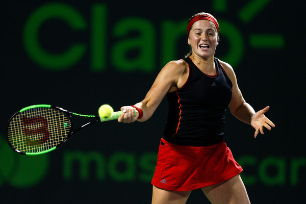 Jelena Ostapenko overcame periods of inconsistency to prevail today | Photo: Michael Reaves/Getty Images North America