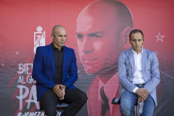 Paco Jémez y Javier Torralbo 'Piru': destruir sin reconstruir. (Foto: Antonio L.Juárez)