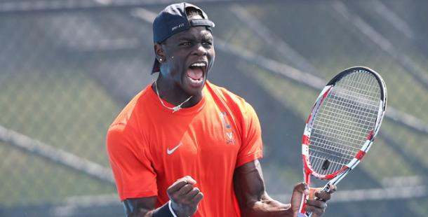 Jarmere Jenkins competing for the University of Virginia in collegiate tennis a few years ago. | Photo: University of Virginia Athletics