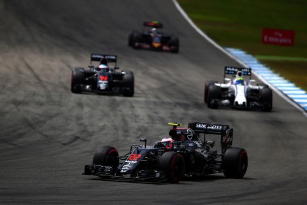 Jenson Button durante el GP de Gran Bretaña | Fuente: Getty Images