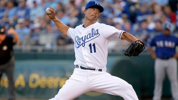 Jeremy Guthrie in action with the Kansas City Royals.