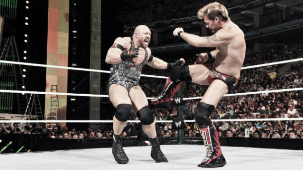 Jericho took the fight to Ryback throughout. Photo-www.wrestlestars.com