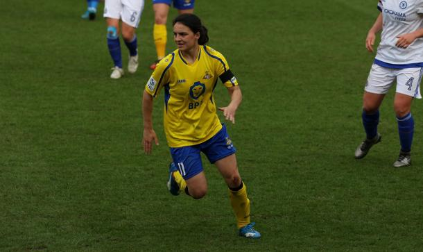 Sigsworth in action earlier this season. | Image credit: Doncaster Rovers Belles
