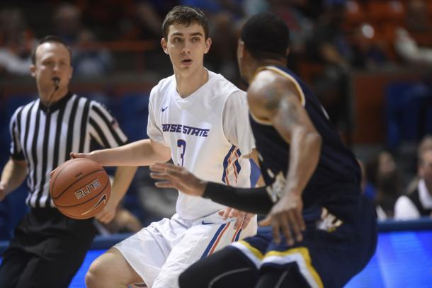 Justinian Jessup has stepped up this year for the Broncos.   Source: Chris Bronson/Idaho Press-Tribune
