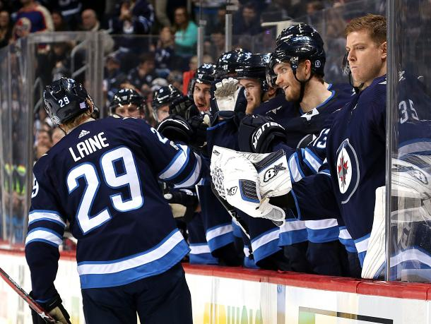 The 2017/18 Winnipeg Jets are surprising some people this season, and Patrik Laine is one reason why. (Photo: Jonathan Kozub/NHLI via Getty Images