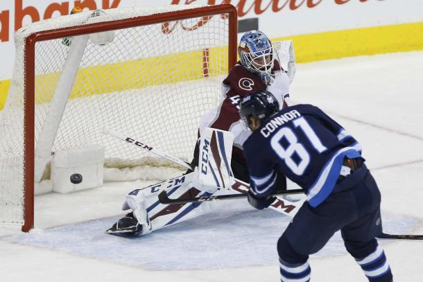 Winnipeg Jets completely smoked the Colorado Av's 6-1 on February 16, 2018. (Photo: THE CANADIAN PRESS/John Woods)
