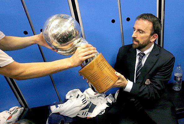 Joan Plaza, campeón de Liga ACB 2007 con el Real Madrid.   Foto: Alberto Estévez