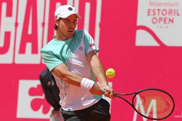 João Monteiro moving towards a win at the Millennium Estoril Open, this Sunday. (Photo by Millennium Estoril Open)