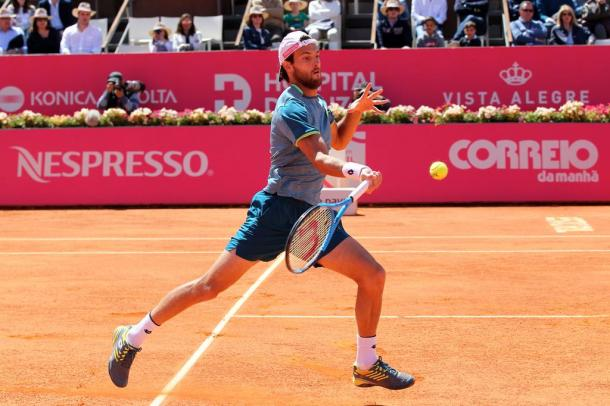 João Sousa en oute to the second round at the Millennium Estoril Open. (Photo by Millennium Estoril Open)