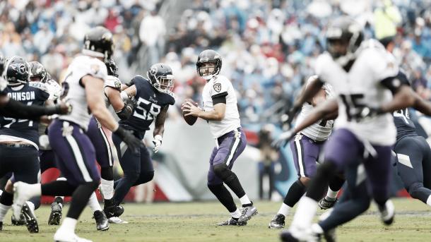 Joe Flacco lanzó para 238 yardas y 1 TD. (Imagen: Baltimore Ravens)