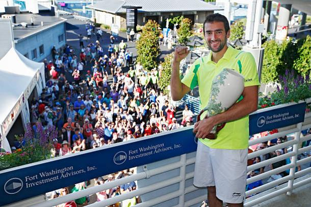 Marin Cilic after winning the title in Cincinnati last year (Getty/Joe Robbins)