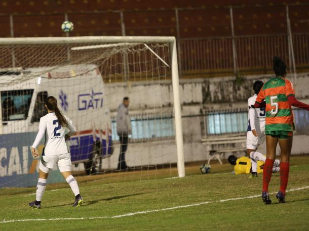 Lusa teve a melhor chance do primeiro tempo e não obteve sucesso (Foto: Evelson de Freitas/ALLSPORTS)