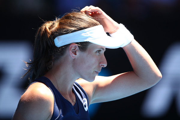 Johanna Konta had to search for ideas during the match | Photo: Clive Brunskill/Getty Images AsiaPac