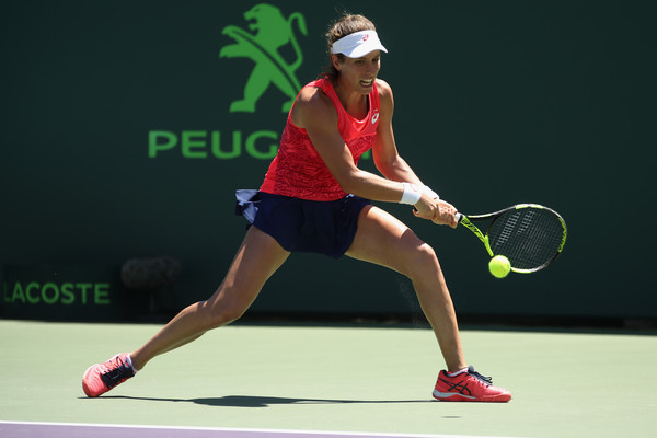 Johanna Konta in action | Photo: Julian Finney/Getty Images North America