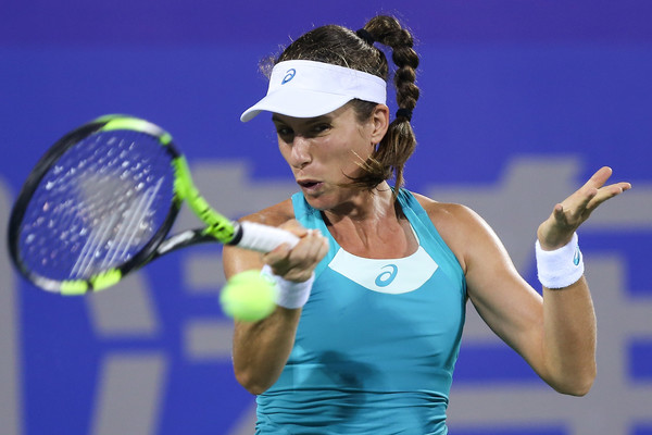 Johanna Konta in action at the Wuhan Open | Photo: Yifan Ding/Getty Images AsiaPac