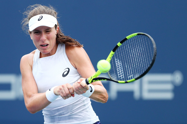 Johanna Konta in action at the Connecticut Open a couple of days ago | Photo: Maddie Meyer/Getty Images North America