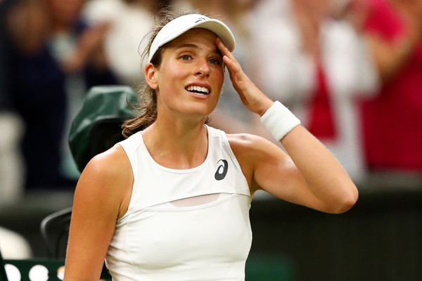 Johanna Konta was in disbelief after claiming the improbable win | Photo: Michael Steele/Getty Images Europe