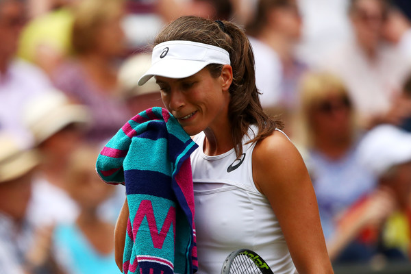 Johanna Konta looks on at the Wimbledon Championships, where she made the last semifinal appearance in the year | Photo: Clive Brunskill/Getty Images Europe