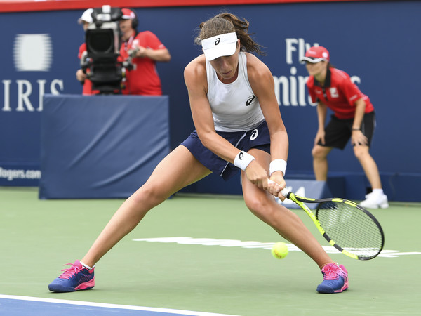 Johanna Konta in action at the Rogers Cup | Photo: Minas Panagiotakis/Getty Images North America