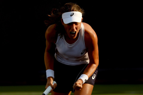 Johanna Konta led by a set and a break but failed to close out the match | Photo: Matthew Stockman/Getty Images North America