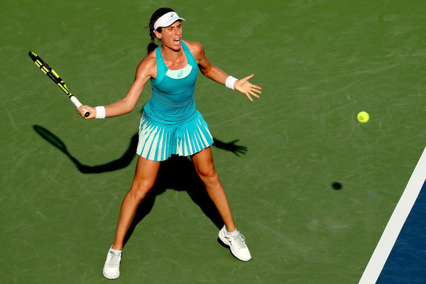 Johanna Konta would rue all her missed opportunities, having wasted two match points | Photo: Matthew Stockman/Getty Images North America