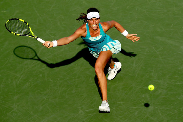 Johanna Konta put up a decent performance, but still fell short to the inspired Ekaterina Makarova | Photo: Matthew Stockman/Getty Images North America