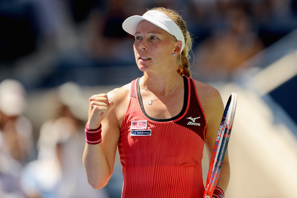 Johanna Larsson completed the improbable comeback from 2-6, 2-5 down | Photo: Elsa/Getty Images North America