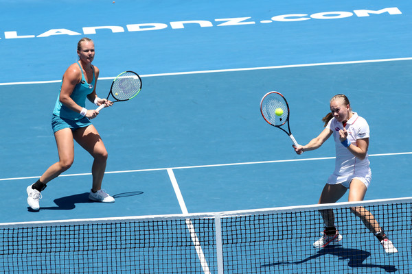 Bertens and Larsson in action at the ASB Classic during the first week of the year | Photo: Phil Walter/Getty Images AsiaPac