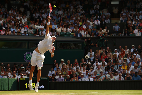 It was a classic serving display from both players today | Photo: Matthew Stockman/Getty Images Europe