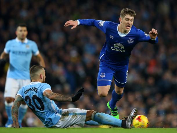 Stones has been guilty of overplaying at times this season, which has led to him being dispossessed in dangerous positions. (Photo: Getty)