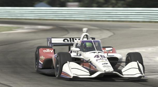 Johnson en el circuito virtual de Watkins Glen / Foto: MOTORLAT