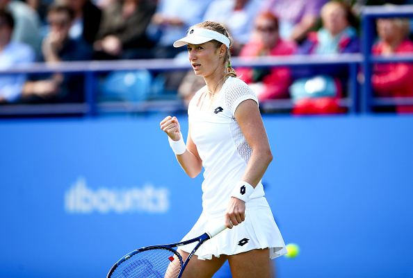 Ekaterina Makarova during her first round win over Tara Moore at the Aegon International (Getty/Jordan Mansfield)