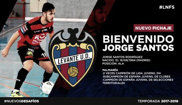 Jorge Santos nuevo fichaje granota | Foto: Web Levante UD