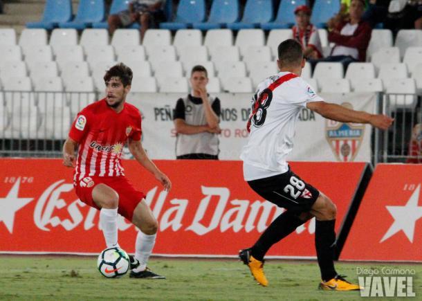 José Ángel Pozo en el encuentro ante el Sevilla Atlético | Foto: VAVEL.com - Diego Carmona