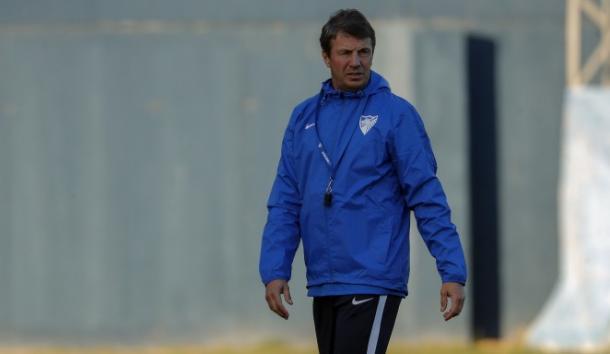 José González durante una sesión de entrenamiento | Foto: Málagacf.com