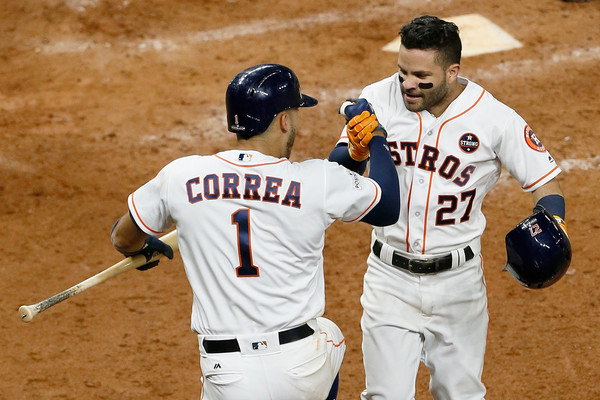 Altuve and Correa are the hub of the Astros offense/Photo: Bob Levey/Getty Images