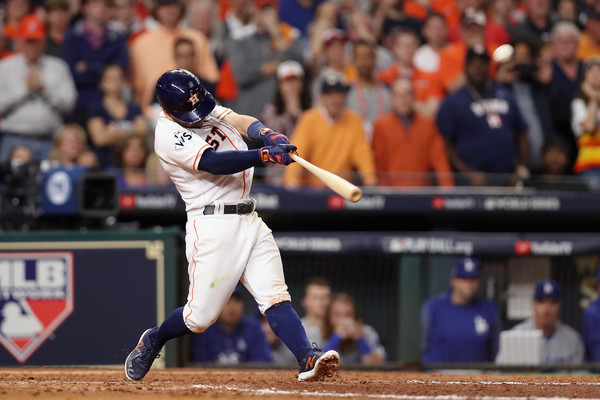 Altuve's sixth home run of the postseason again brought the Astros from behind/Photo: Christian Petersen/Getty Images