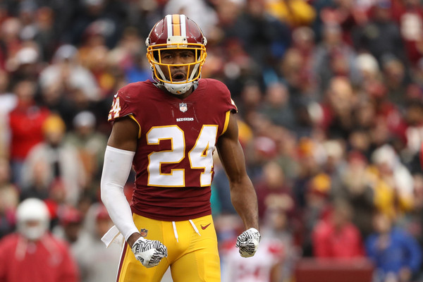 Cornerback Josh Norman #24 of the Washington Redskins |Patrick Smith/Getty Images North America|