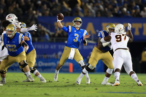 Josh Rosen #3 of the UCLA Bruins |Nov. 10, 2017 - Source: Sean M. Haffey/Getty Images North America|