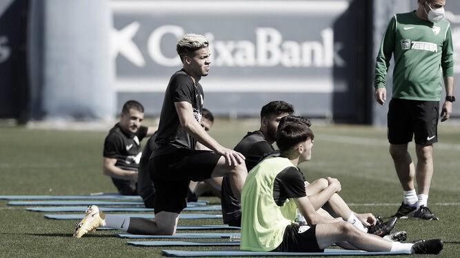 Josua Mejías en un entrenamiento. / Foto: Málaga CF
