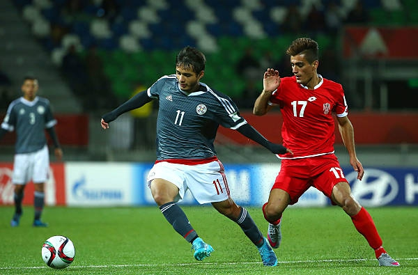 Josué Colmán playing in the U-17 World Cup in 2015 for Paraguay | Photo by Victor Decolongon - FIFA/FIFA via Getty Images
