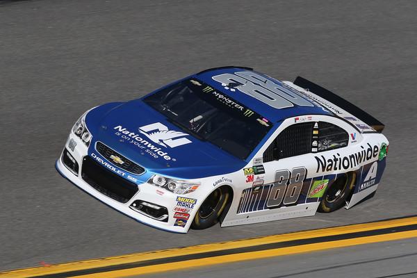 Earnhardt Jr. races during qualifying on Sunday. (Matt Sullivan/Getty Images North America)