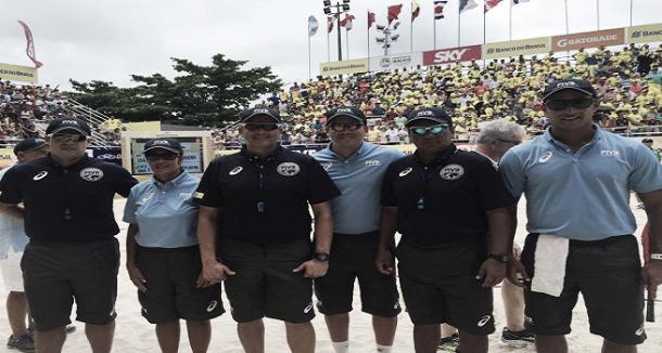 Equipo de árbitros - Beach Volleyball World Tour 2016-  Maceió Open