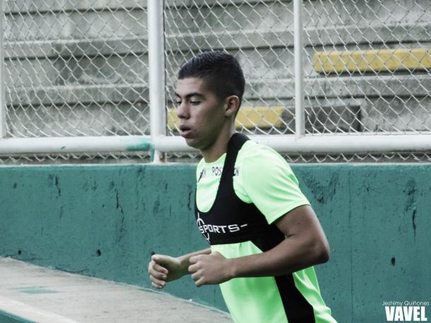 Juan Giraldo, hermano de Daniel Giraldo, fue inicialista en la segunda práctica | Foto: Jeshimy Quiñones