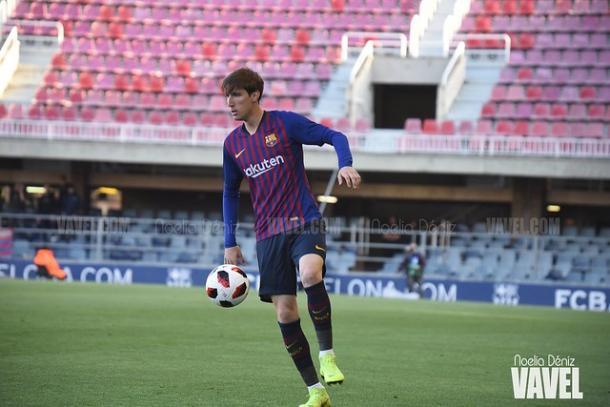 Imagen de Juan Miranda, jugador del Barça B. FOTO: Noelia Déniz