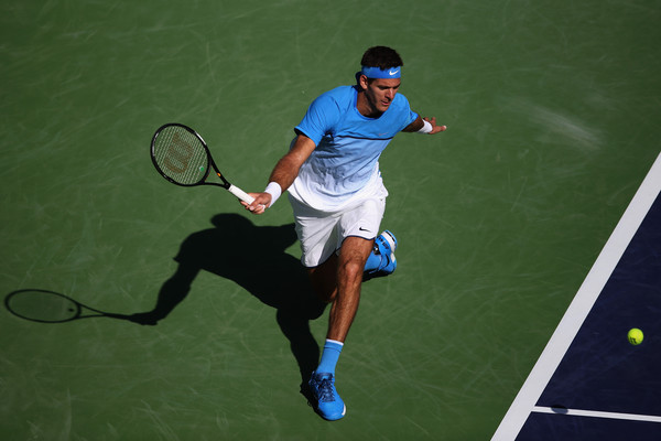 Del Potro in Indian Wells. Photo: Sean M. Haffey/Getty Images