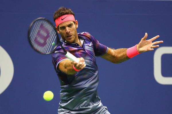 Juan Martin del Potro hits a forehand | Photo: Al Bello/Getty Images North America
