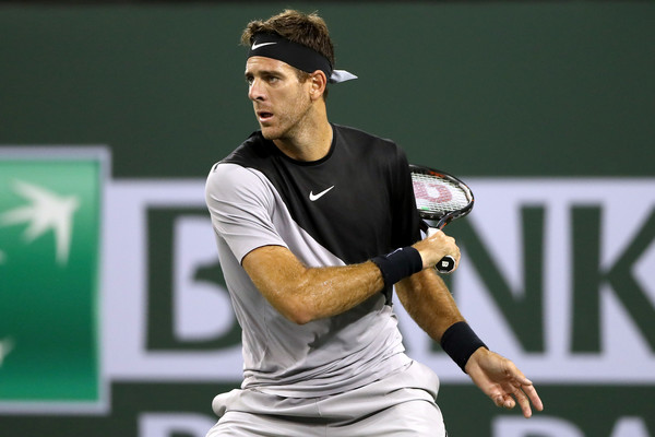 Juan Martin del Potro's forehands were absolutely firing today | Photo: Matthew Stockman/Getty Images North America